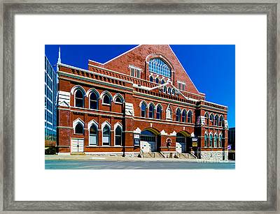 Ryman Auditorium  Framed Print