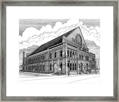 Ryman Auditorium In Nashville Tn Framed Print by Janet King