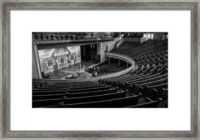 Ryman Stage Framed Print