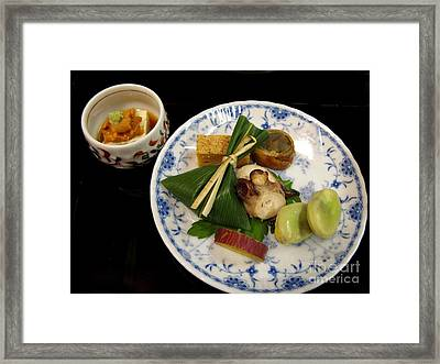 Framed Print featuring the photograph Ryokan Dinner by Carol Sweetwood