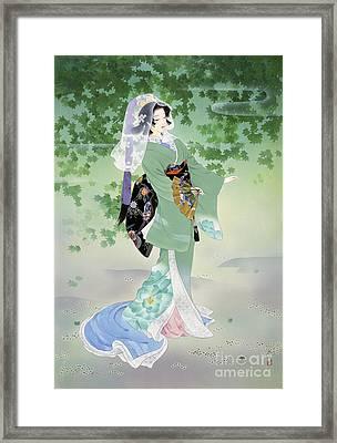 Ryokufu Emerald Wind Framed Print