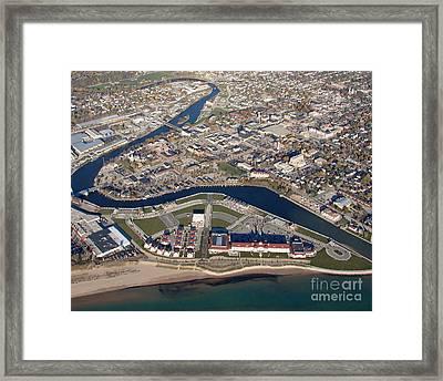 S-081 Sheboygan Wisconsin Riverwalk Framed Print by Bill Lang