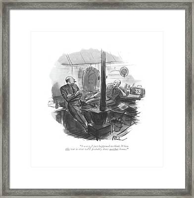 S-a-a-y, I Just Happened To Think. When This War Framed Print by Perry Barlow