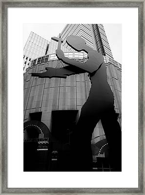 S A M Framed Print by Benjamin Yeager