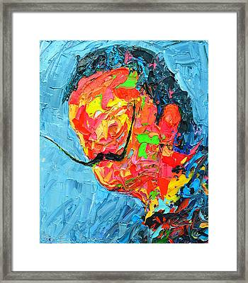 S D 2530 - Dali Abstract Expressionist Portrait  Framed Print