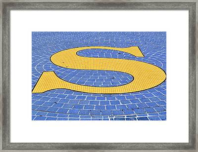 S Is For ...... Framed Print by Tikvah's Hope