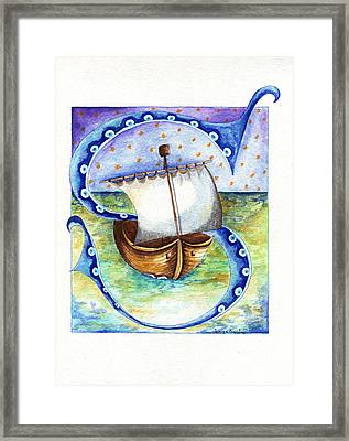 S Is For Sailing Framed Print