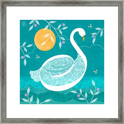 S Is For Swan Framed Print