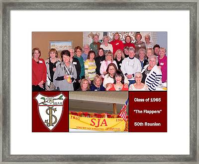 S J A Reunion Collage Flappers Framed Print
