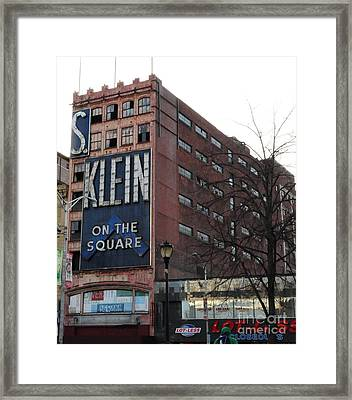 S Klien On The Square Framed Print by Paul Ward
