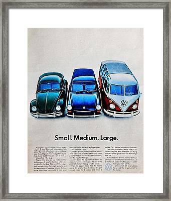 S M L Framed Print by Benjamin Yeager
