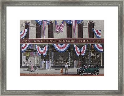 S. S. Kresge Five And Ten Cent Store Framed Print