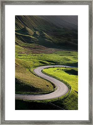 S Shaped Bend On A Country Road Framed Print by Photos By R A Kearton