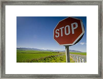 S T O P Framed Print by Aaron Bedell