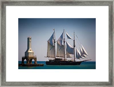 s/v Peacemaker Framed Print