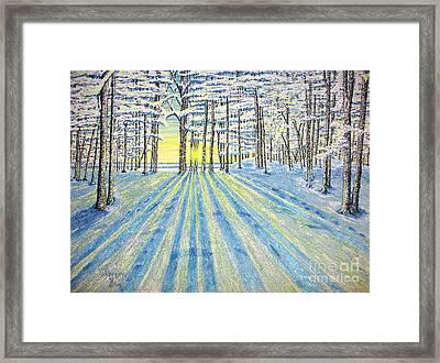 S. Winter. Framed Print