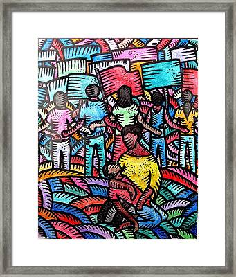Sa Likod Ng Piketlayn Behind The Picketline Framed Print