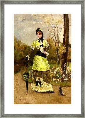 Sa Majeste La Parisienne Framed Print by Alfred Stevens