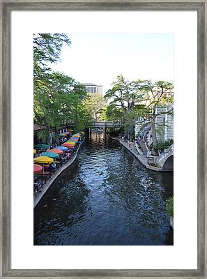 Framed Print featuring the photograph Sa River Walk 2  by Shawn Marlow