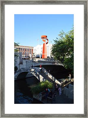 Sa River Walk Framed Print by Shawn Marlow