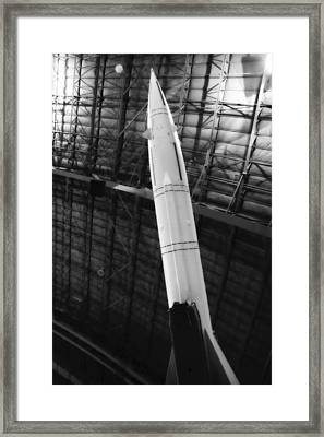 Sa2 Launcher Black And White Framed Print