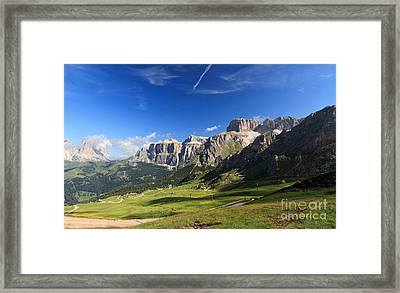 Saas Pordoi And Fassa Valley Framed Print by Antonio Scarpi