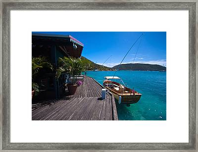 Saba Rock Framed Print