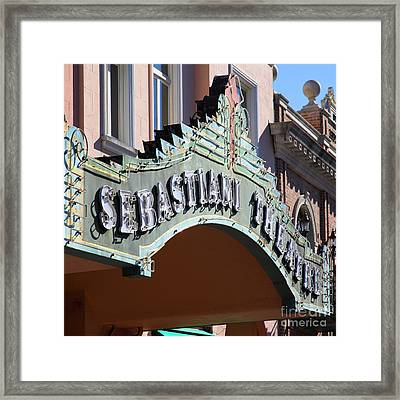 Sabastiani Theatre Downtown Sonoma California 5d19288 Square Framed Print