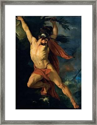 Sabatelli Francesco, Ajax Son Framed Print by Everett