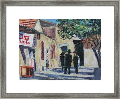 Framed Print featuring the painting Sabbath In Jeruselem by Linda Novick