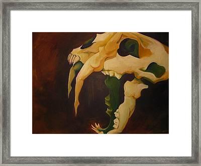 Saber Tooth Framed Print by Allison Kohn