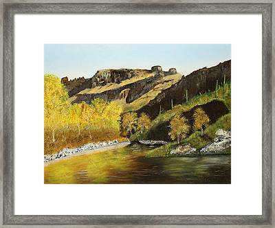 Sabino Autumn Framed Print by Rich Civiok