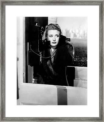 Saboteur, Priscilla Lane, 1942 Framed Print by Everett
