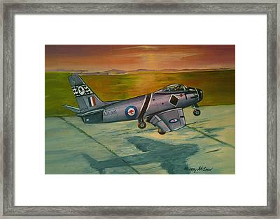 Framed Print featuring the painting Sabre At Sunset by Murray McLeod