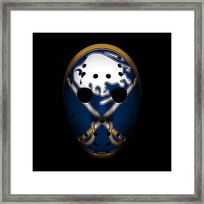 Sabres Goalie Mask Framed Print