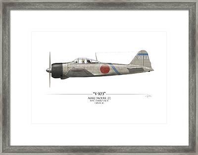 Saburo Sakai A6m Zero  Framed Print by Craig Tinder