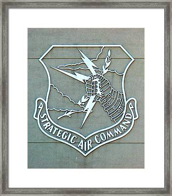Framed Print featuring the photograph Sac Strategic Air Command by Jeff Lowe
