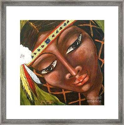 Sacajawea Framed Print by Maya Telford