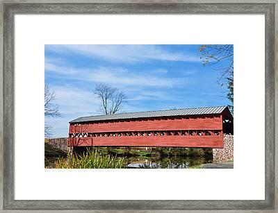 Sachs Bridge Gettyburg Pa Framed Print by Bill Cannon