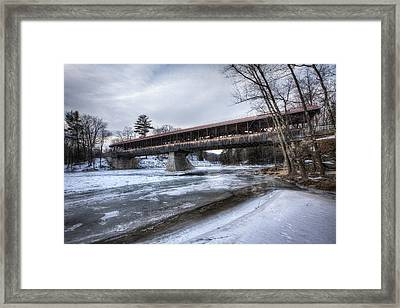 Saco River Bridge Framed Print by Eric Gendron