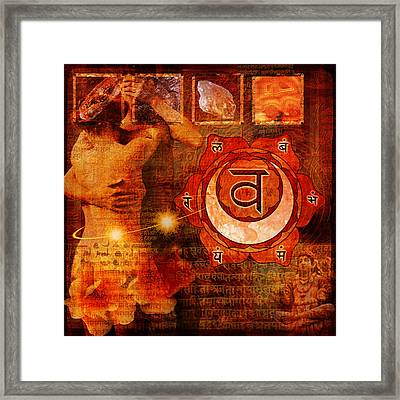 Sacral Chakra Framed Print by Mark Preston