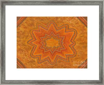 Sacral Flower Framed Print