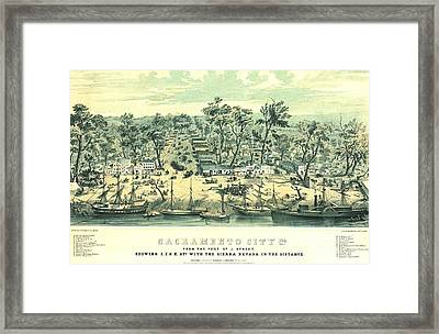 Sacramento California 1849 Framed Print by Padre Art