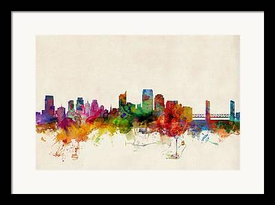 Sacramento Framed Prints