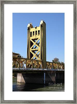Sacramento California Tower Bridge 5d25528 Framed Print by Wingsdomain Art and Photography