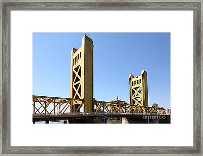 Sacramento California Tower Bridge 5d25530 Framed Print by Wingsdomain Art and Photography