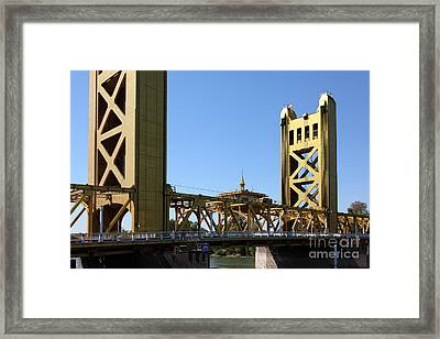 Sacramento California Tower Bridge 5d25532 Framed Print by Wingsdomain Art and Photography