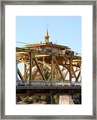 Sacramento California Tower Bridge 5d25533 Framed Print by Wingsdomain Art and Photography