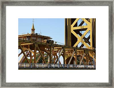 Sacramento California Tower Bridge 5d25539 Framed Print by Wingsdomain Art and Photography