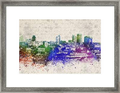 Sacramento City Skyline Framed Print